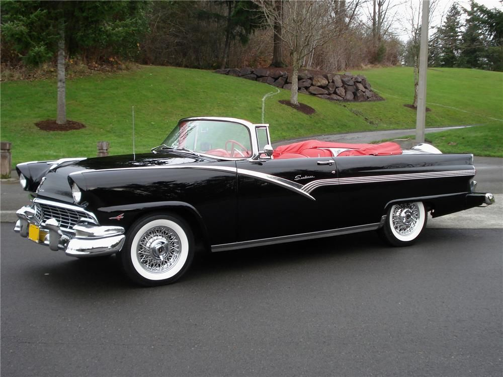 1956 FORD FAIRLANE SUNLINER CONVERTIBLE - Barrett-Jackson Auction ...