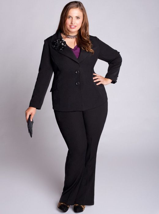 Pant Suits for Plus Size Women | Plus size outfits, Trendy ...