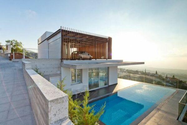 Moderne architektur haus am strand terrasse garten mit for Modernes haus terrasse