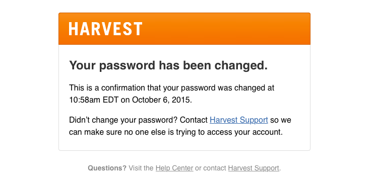 Harvest Sent This Email With The Subject Line Your Harvest