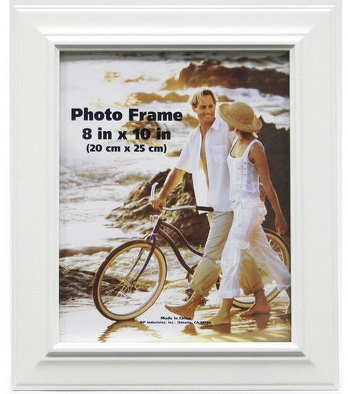 Plastic Bevel Portrait Wall Photo Frame 8 X10 White Frames On Wall White Photo Frames White Picture Frames