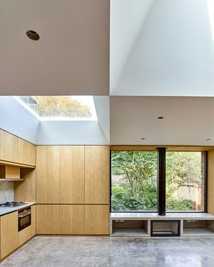 Light And Space Oak Glass And Concrete Surfaces At The Hidden House Hidden House House Home