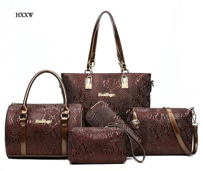 Women Leather Handbag Messenger Composite Bags 5 Sets Ladies Designer  Handbags Famous Brands Fashion Bag For Female Classic Bag bc67a4bfe9