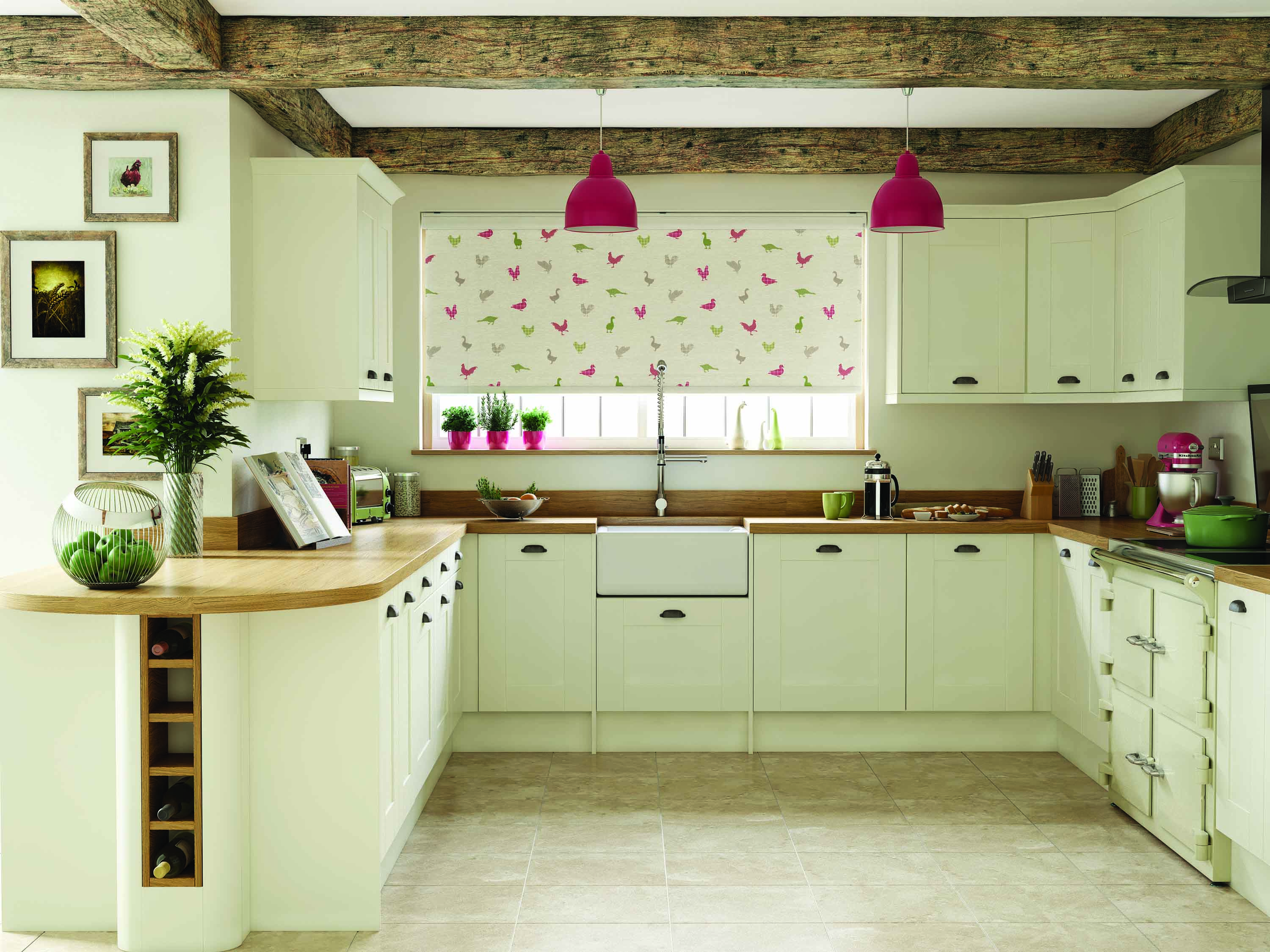 We supply made to measure kitchen blinds arrange a free home