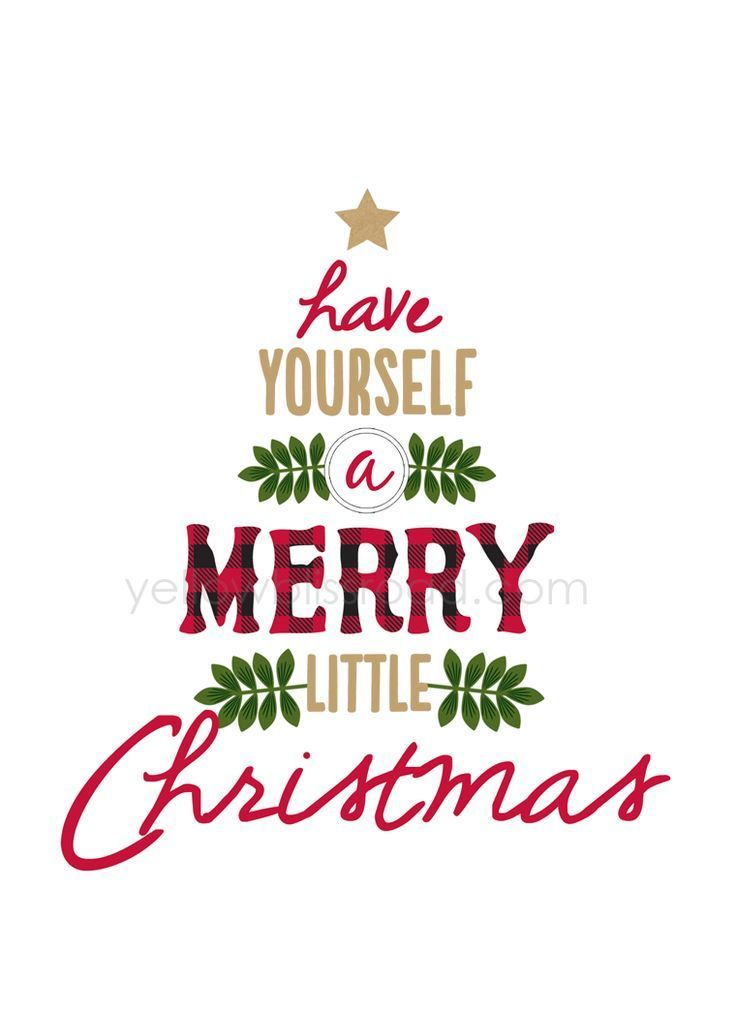 I Love This Festive Free Christmas Printable Have Yourself A Merry Little Now Sign Makes An Adorable Decoration