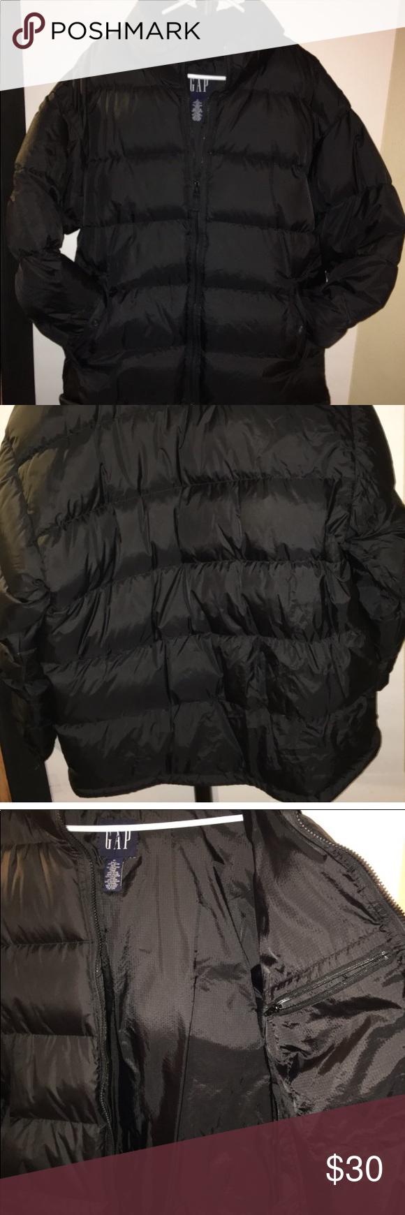 Men S Gap Puffer Coat Puffer Coat Black Puffer Coat Fashion [ 1740 x 580 Pixel ]
