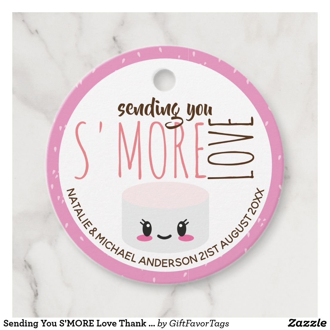 Photo of Sending You S'MORE Love Thank You Pink Favor Gift Favor Tags | Zazzle.com –  Sen…