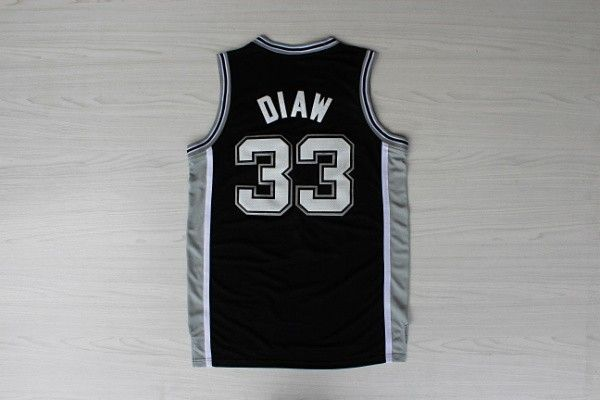 NBA San Antonio Spurs 33 Diaw Black Jersey