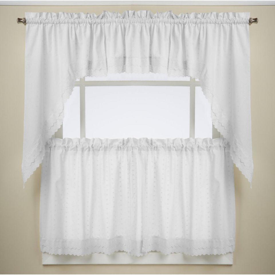 Ribbon Eyelet White Kitchen Curtains In 2020 White Kitchen Curtains White Curtains Kitchen Curtains