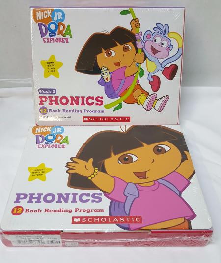 kids phonics book reading program boxed set paperback dora the