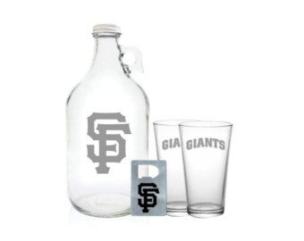 MLB Team Beer Growler- Every MLB Team Logo Available! 64oz Beer Growler