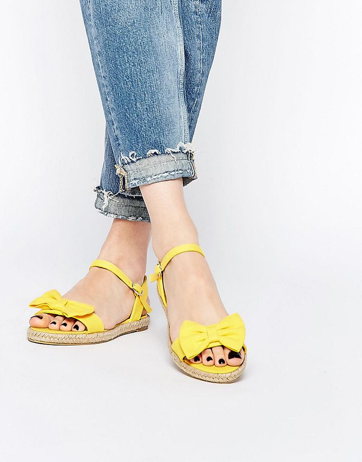 074dff008 Under  30! How cute are these ! ASOS COLLECTION ASOS JUNO Espadrille Bow  Sandals