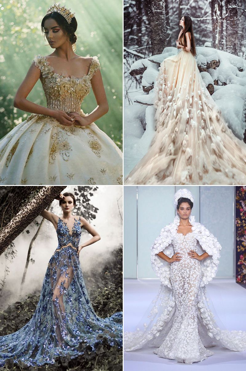 20 Fashion-Forward Wedding Dresses Featuring 3D Effects and ...