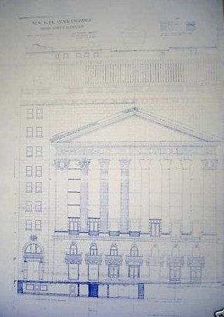 New york stock exchange blueprint 1899 via etsy for the new york stock exchange blueprint malvernweather Choice Image