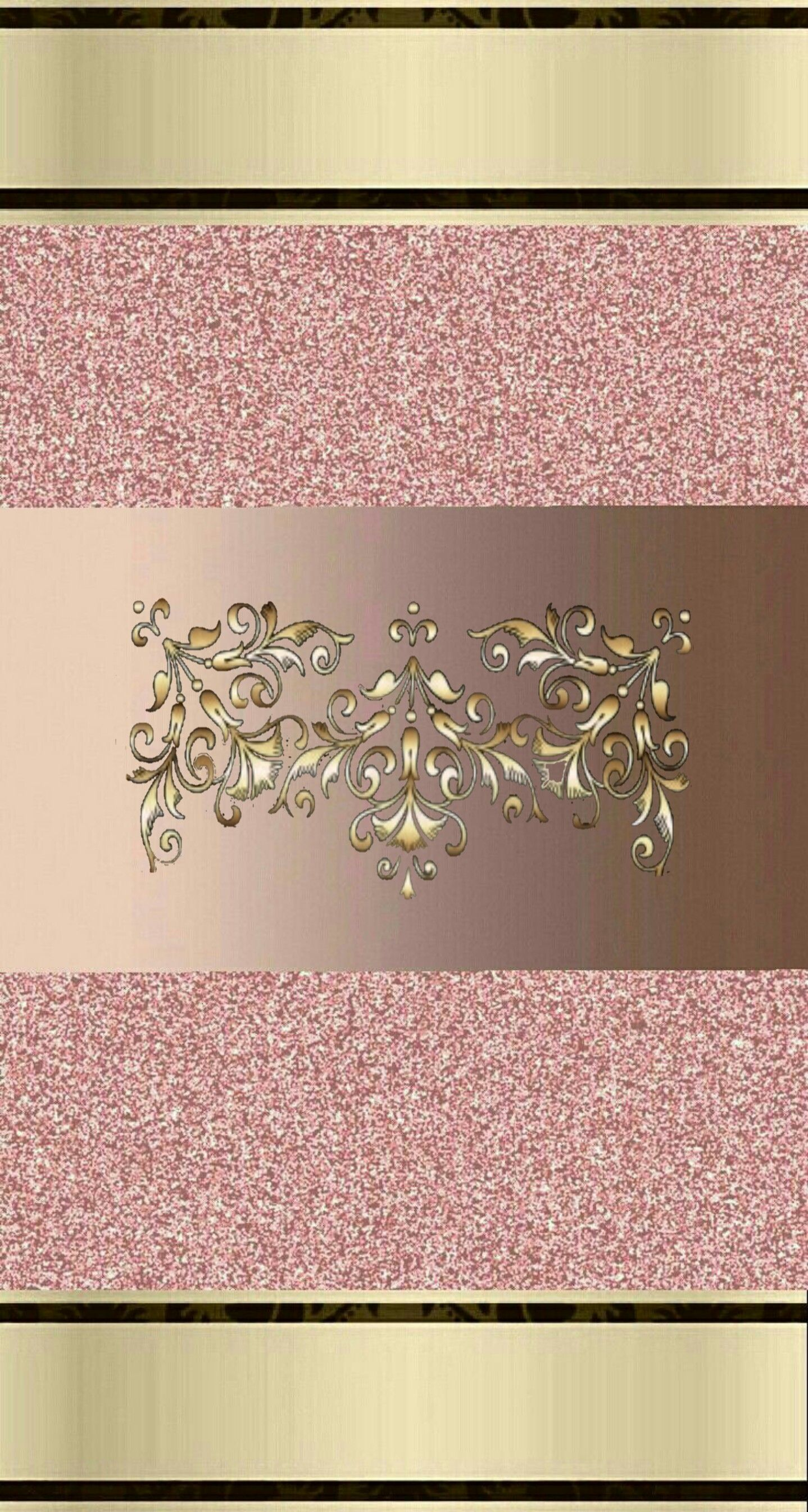 Pink Gold Wallpaper By Artist Unknown Background