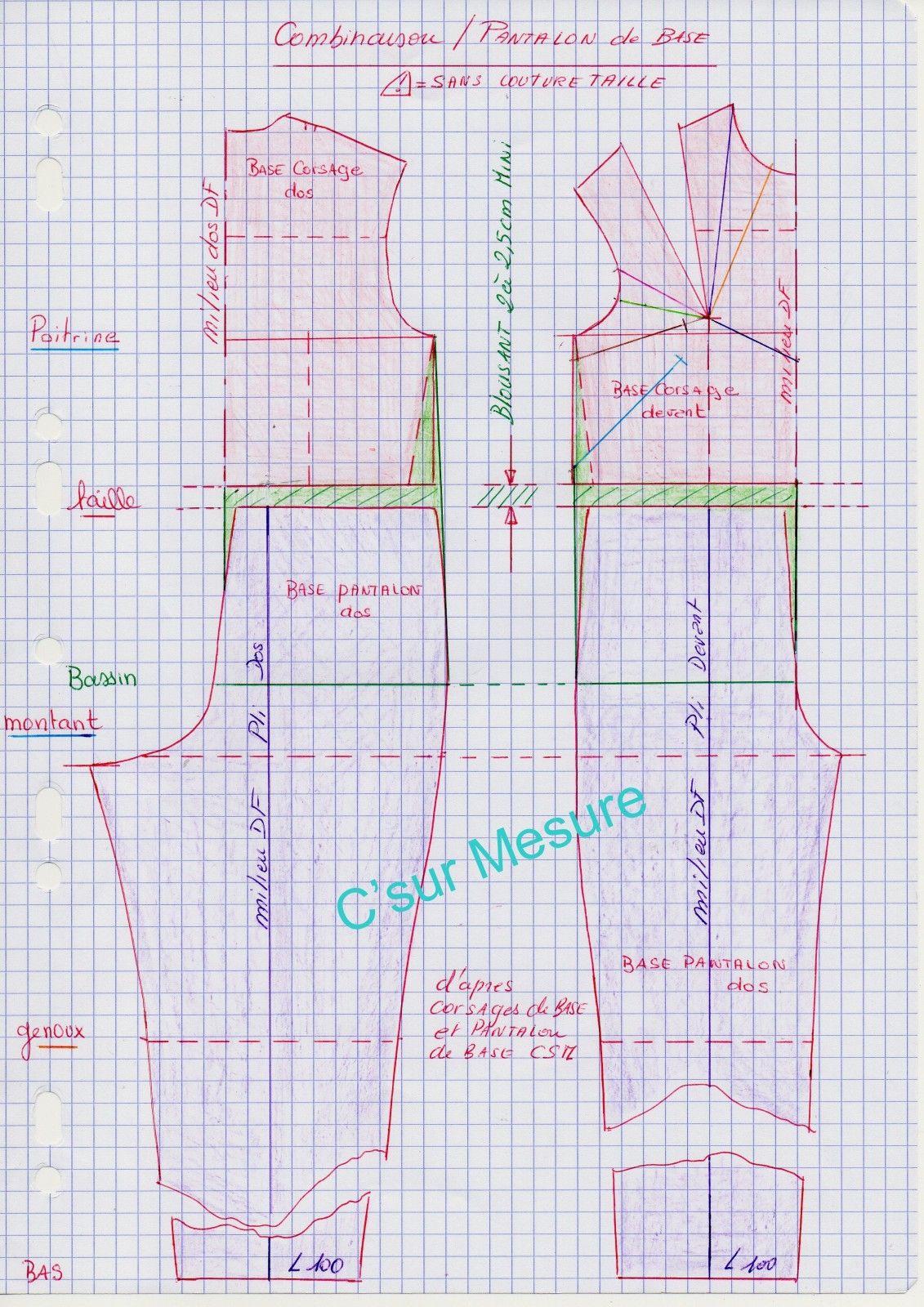 patron de base combi | Talleres de costura y confección | Sewing ...