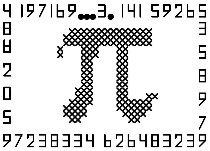 Math Lover Pi Counted Cross Stitch Chart For Immediate Download