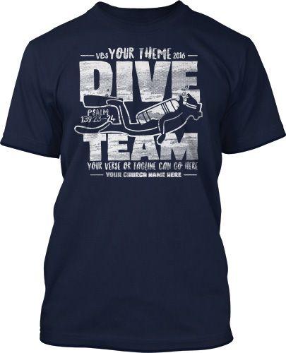 Dive Team Submerged VBS 2016 T-Shirt Design #16217