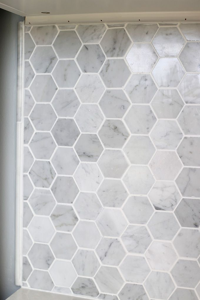 How to Install a Marble Hexagon Tile Backsplash Marbles Kitchens
