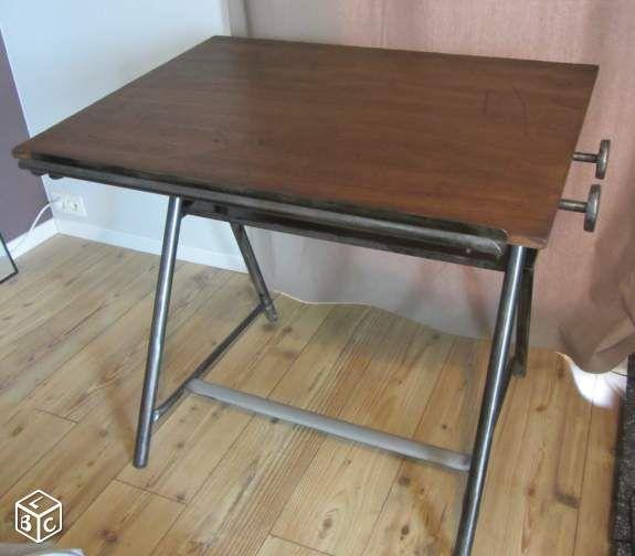 Table D Architecte En Bois bureau d'architecte / table dessin (bois & métal) | furniture design