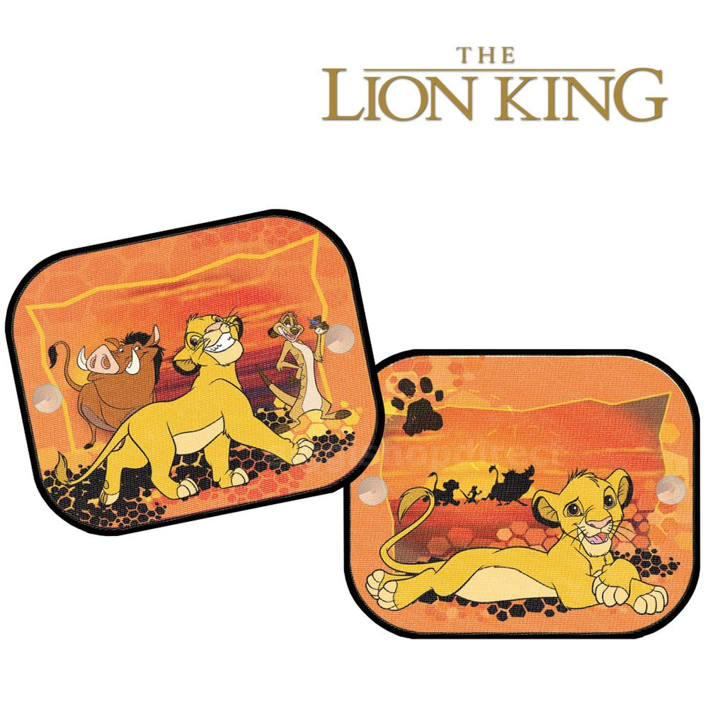 2 x disney the lion king window car sun shades uv blinds children kids baby