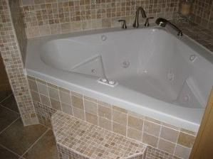 Jacuzzi Corner Tub Shower Combo | Walk-in Shower and Jacuzzi Tub - eclectic  -