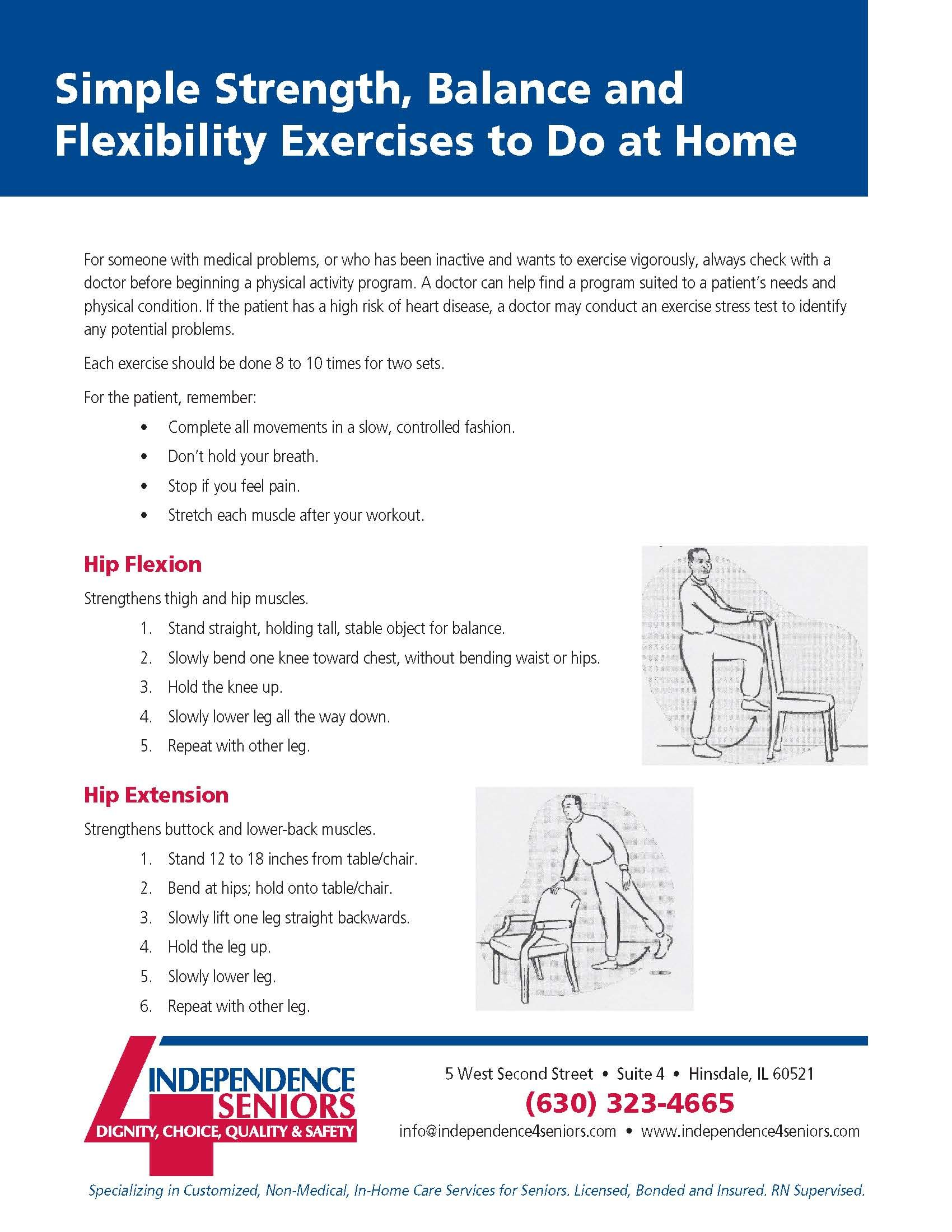 Simple Strength Balance and Flexibility Exercises to Do at Home