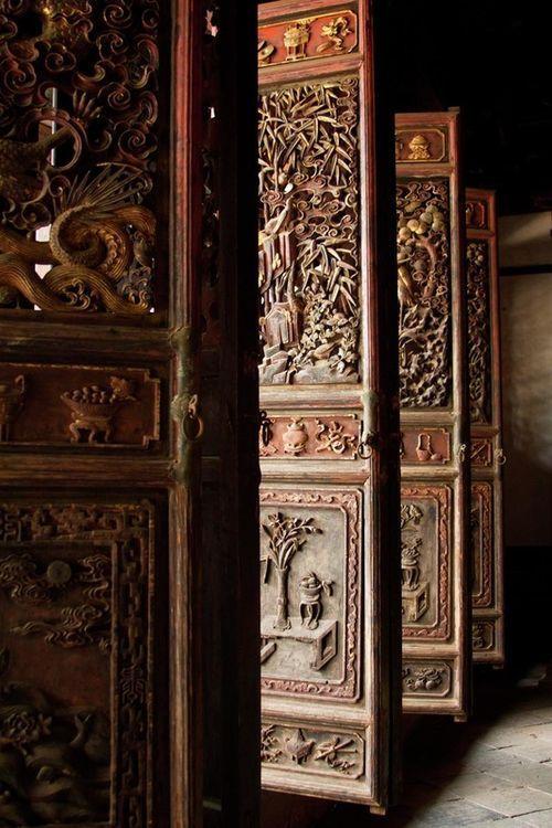 Biombos chinos antiguos gama de marrones pinterest - Biombos chinos antiguos ...