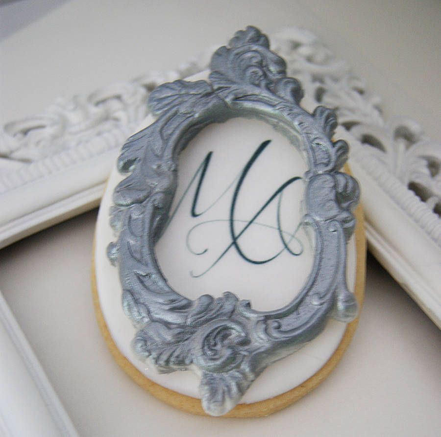 Monogram White Chocolate Frame Biscuits