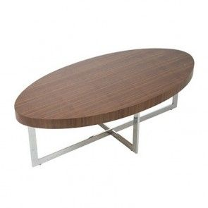 Delightful NATIONALFURNITURESUPPLY.com. Euro Style Oliver Coffee Table   Walnut/Chrome  28041A+B