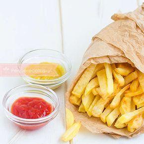 Patatas fritas al horno. Receta de patatas fritas al horno.