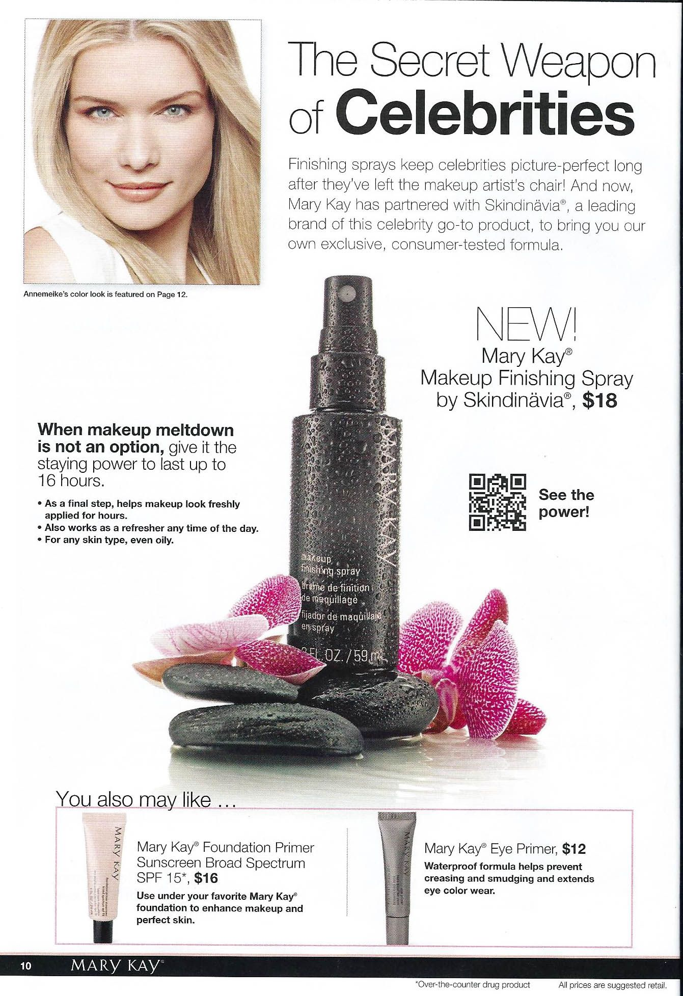 pg 10 of NEW! FromtheRunway Color. Finishing sprays keep