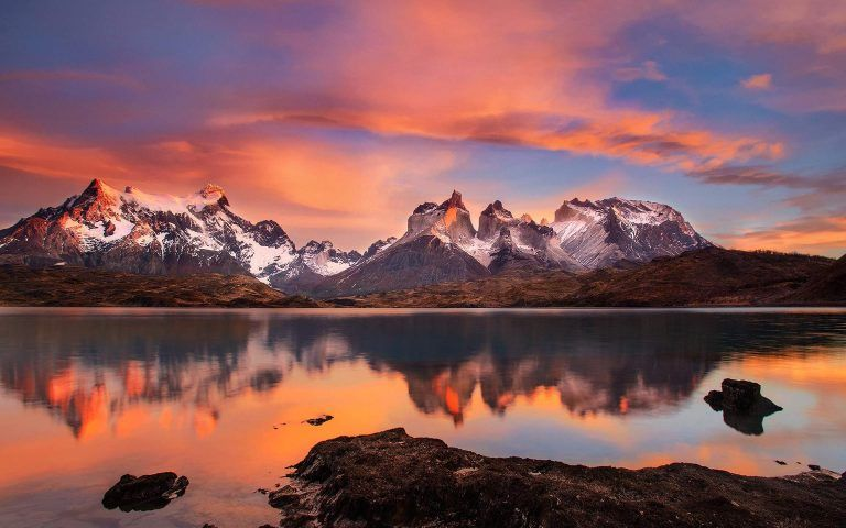 cool The Andes Mountain Sunset Wallpaper- Download