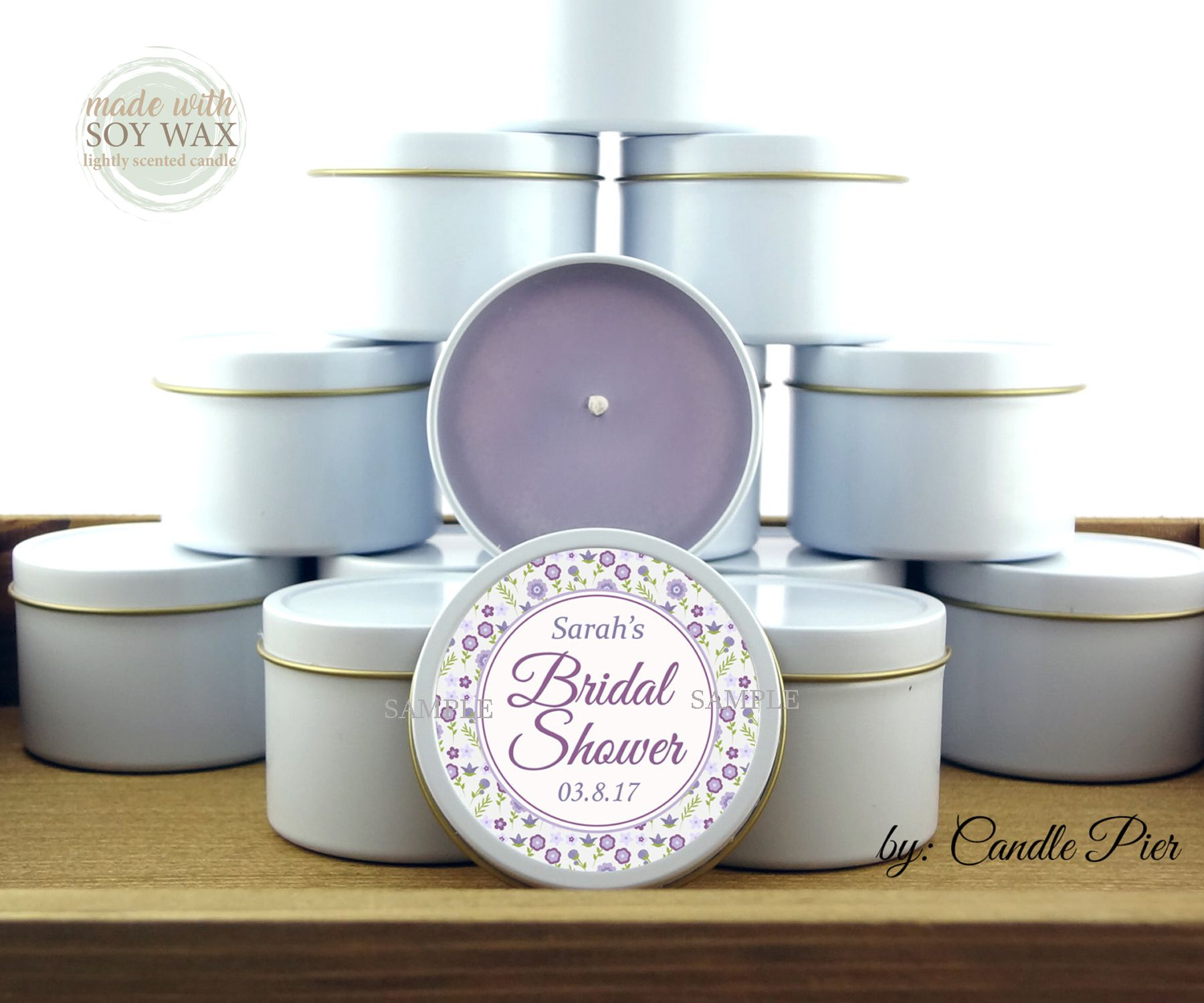Pin by CandlePierCo on Wedding favors, soy candle favors   Pinterest ...