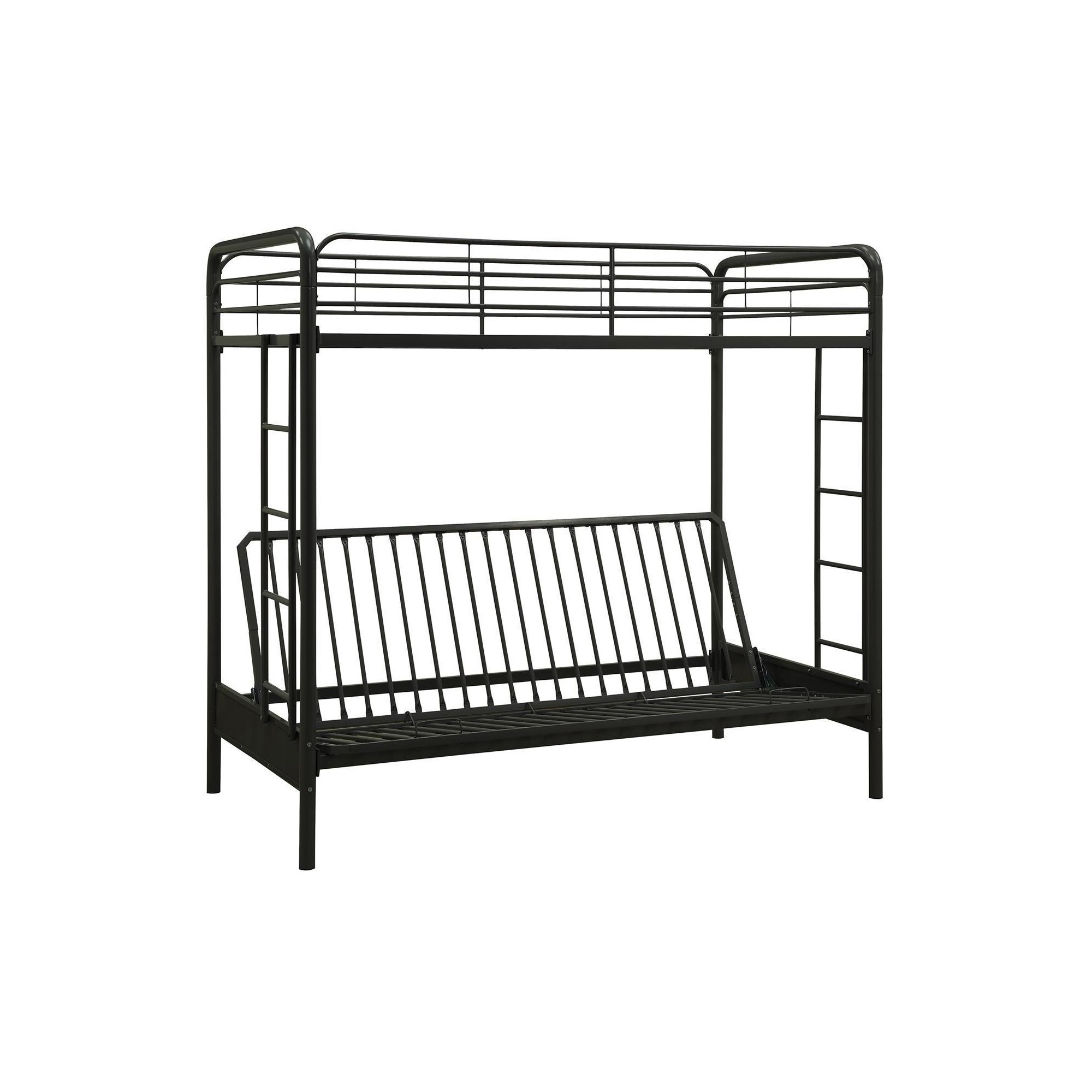 twin over futon bunk bed black dorel home products futon bunk