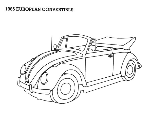1965 European Convertible Beetle Car Coloring Pages Best Place To Color Cars Coloring Pages Beetle Car Coloring Pages
