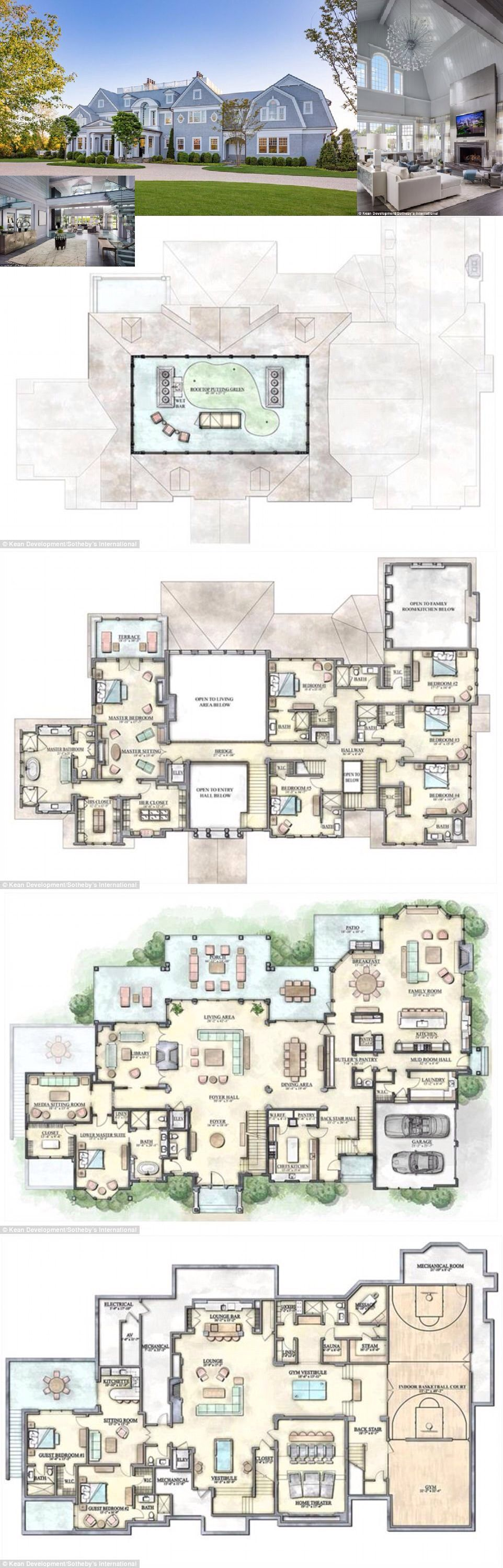 Largest Mansion For Sale In The Hamptons Hits The Market For 35m House Plans Mansion Mansion Floor Plan Hampton Mansion