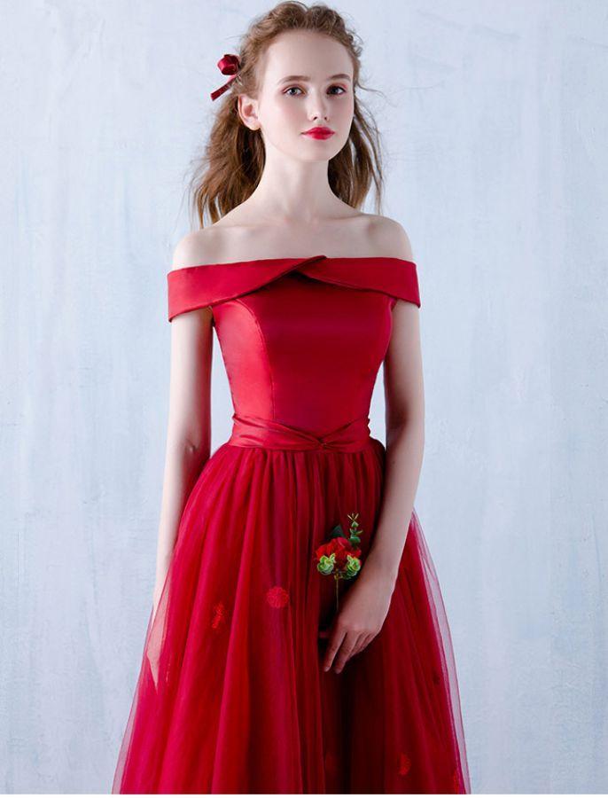 1950s Inspired Off Shoulder Prom Dress   Style   Pinterest   1950s ...
