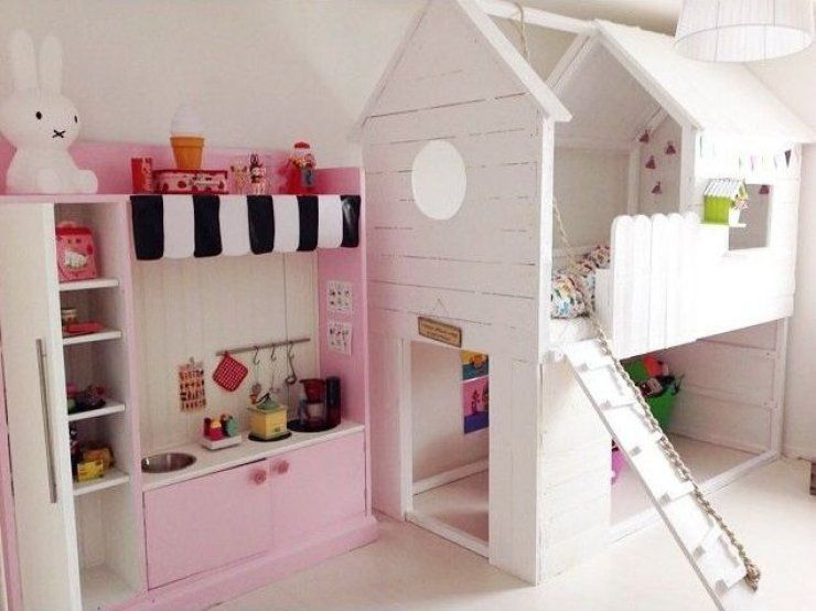Ikea Kura Bed Hacked Into A Little White House Isla