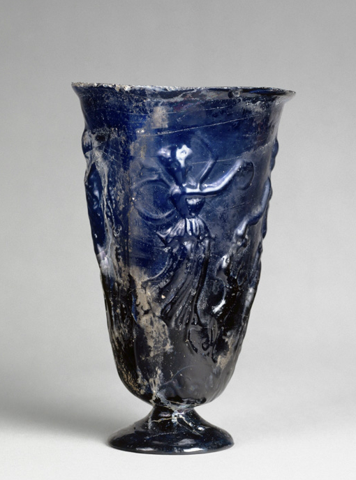 Goblet w/ Dionysian Decoration -- Late 1st-Early 2nd Century CE -- Near East (?)  Belonging to The Louvre.
