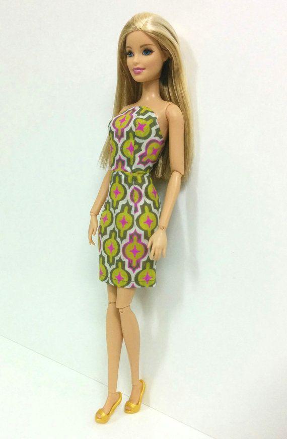 Retro Print Dress for Barbie Fashionistas/Style by SKSungDesigns