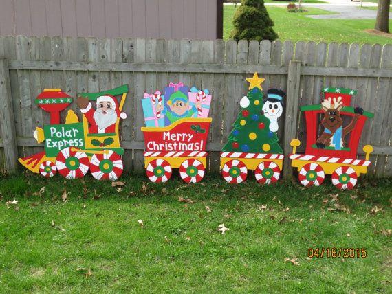 Christmas Polar Express Train Wood Outdoor Yard Art by chardoman ...