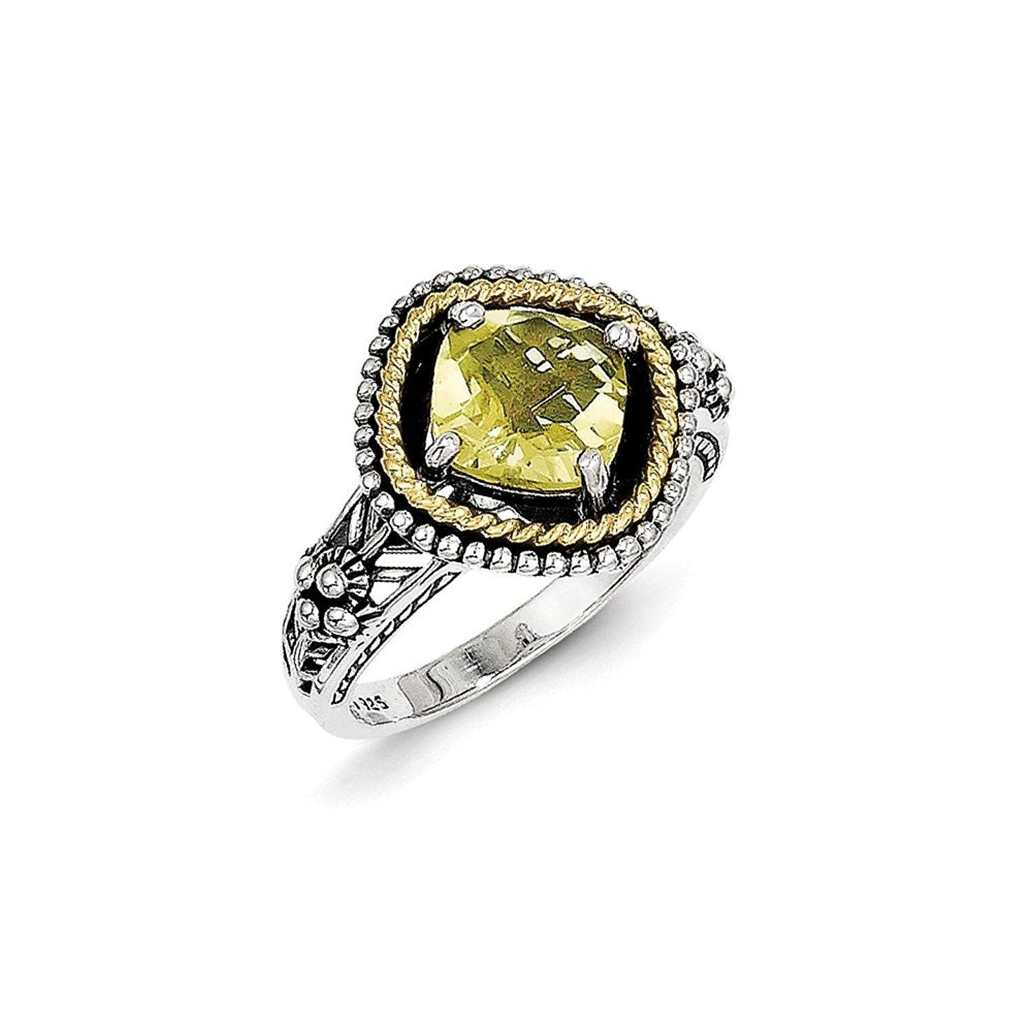 Perfect jewelry gift sterling silver wk lemon quartz ring