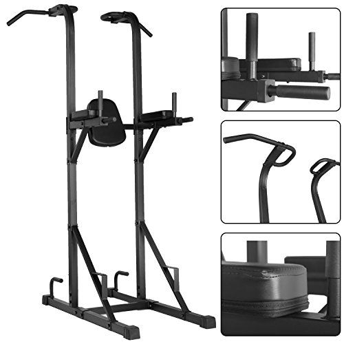multi gym chair tri fold blacked out function power tower with dip stand pull up station captains and push