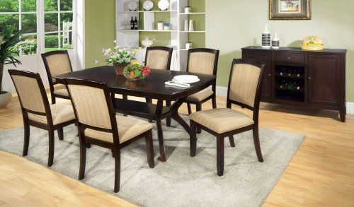GB3550T - Angelo Deep Espresso Finish Dining Table + 6 Chairs - Furniture2Go | Dining room sets ...