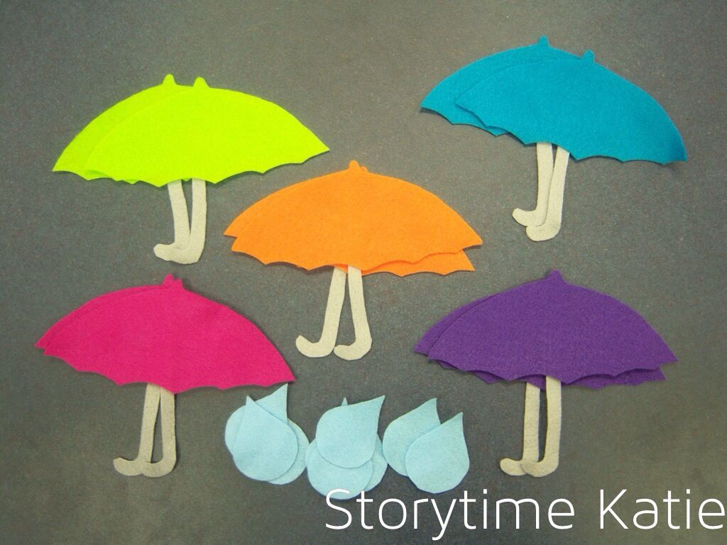 Ten Umbrellas And Raindrops From Storytime Katie