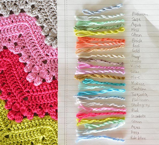 Closet For Crocheted Napkin بطانية كروشية في ستة ايام Six Days For Crocheted Blankit Crochet Yarn Diy Crochet Ripple