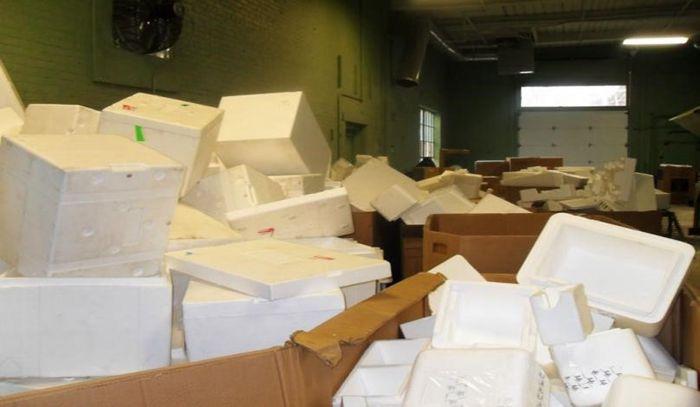 Embalaje de espuma se puede reciclar fácilmente