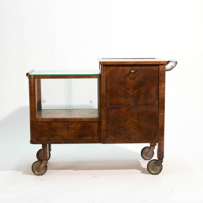 30er jahre art deco barwagen beistelltisch thonet teewagen bar