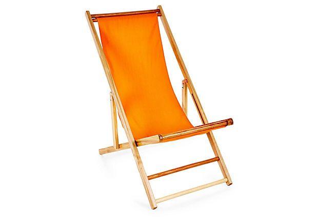 Cabana Beach Chair, Tangerine On OneKingsLane.com